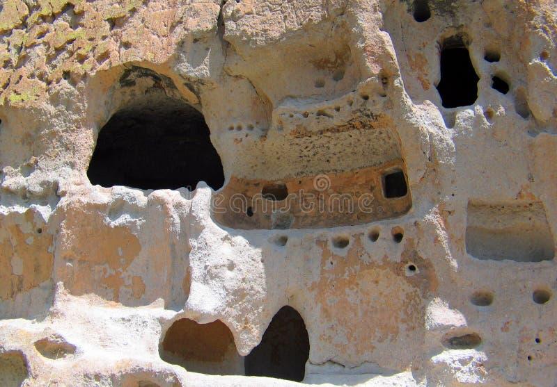 D?coupages architecturaux antiques de roche de Bandelier images libres de droits