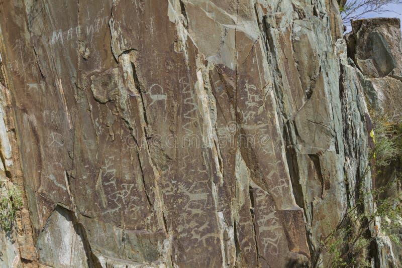 D?coupages de roche de montagne altai images libres de droits