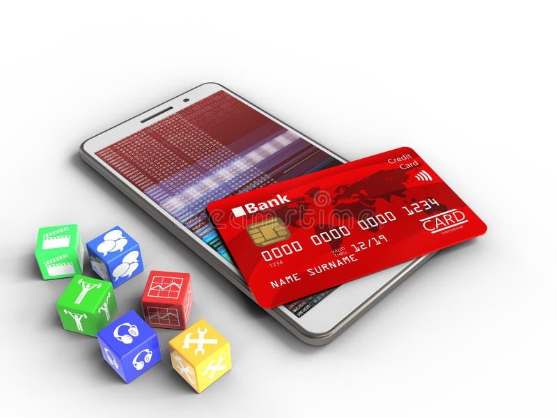 3d credit card royalty free illustration