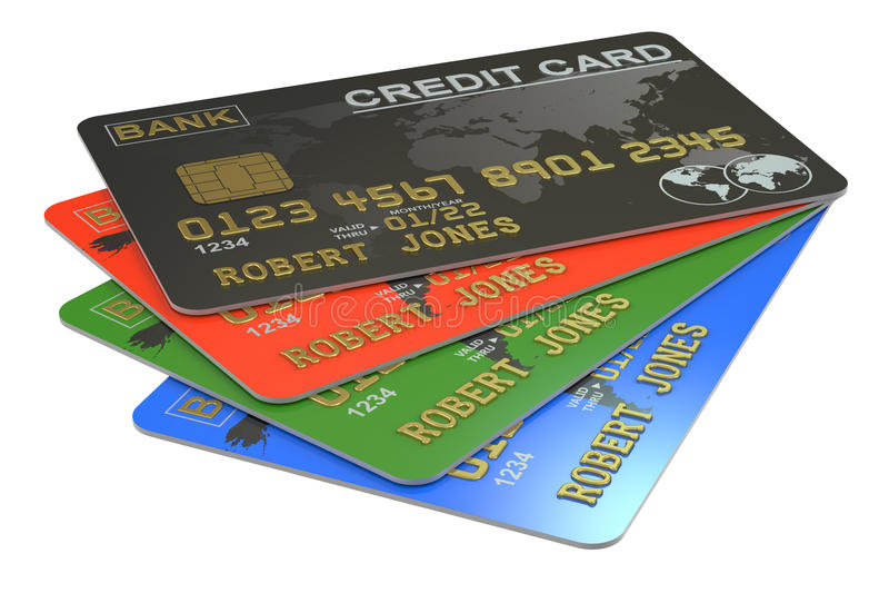 3D Creditcards vector illustratie