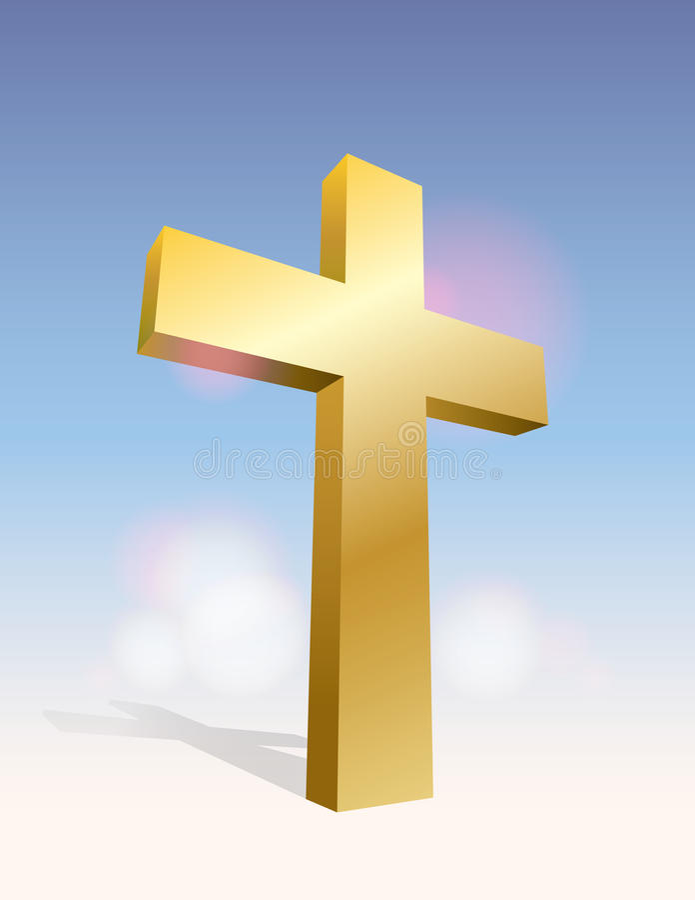 3D Cross Illustration vector illustration
