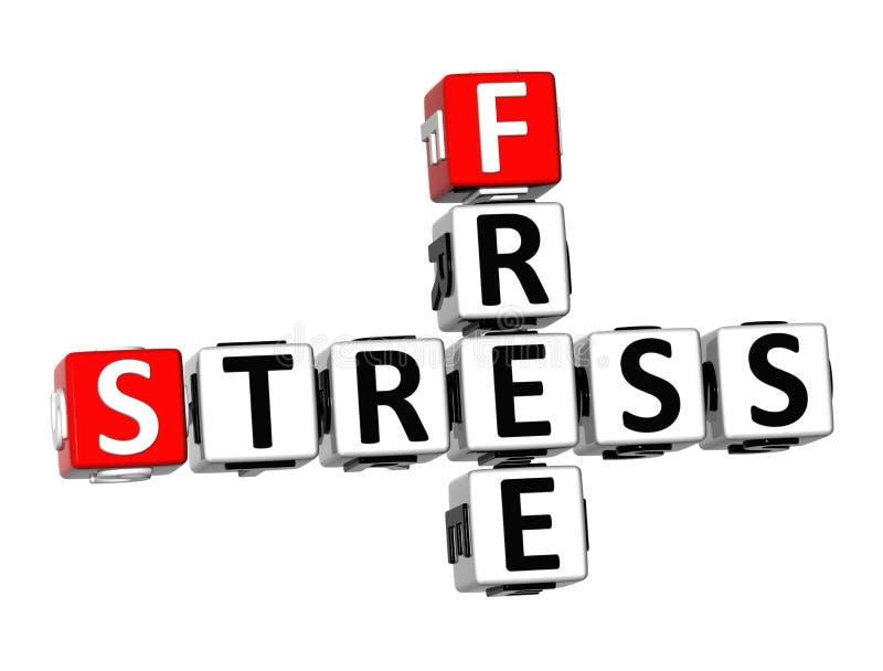 3D Crossword Bezpłatny stres na białym tle ilustracji