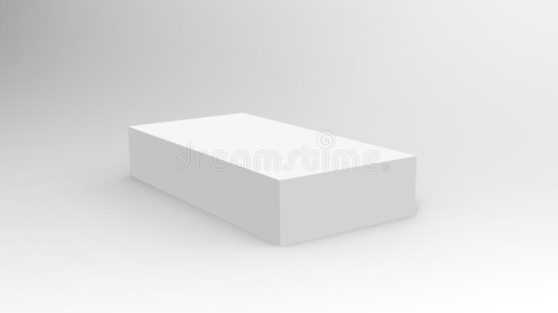 3d cube box render on isolated background for product package design mockup and template vector illustration