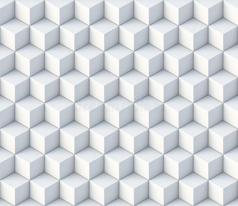 3d cube l'ornement sans couture de modèle illustration de vecteur