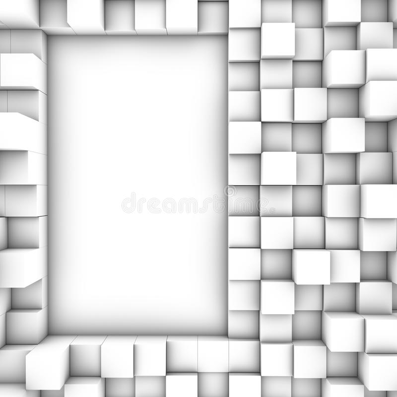 3D cube le fond illustration libre de droits