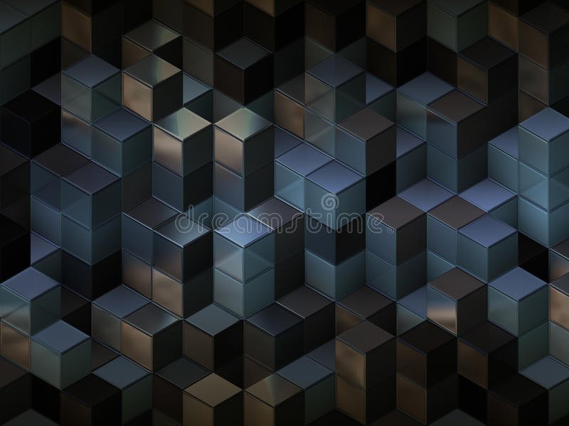 3d cube le fond abstrait illustration stock