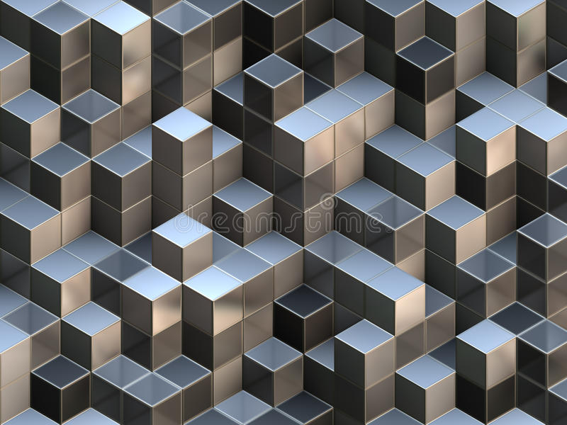 3D cubes abstract background vector illustration