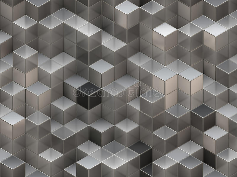 3D cubes abstract background stock illustration