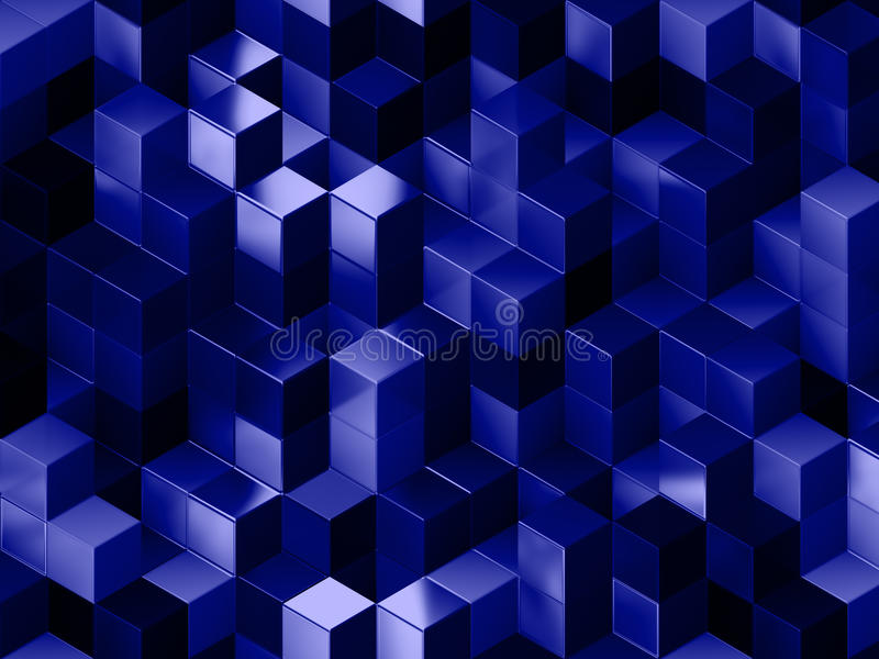 3D cubes abstract background royalty free illustration