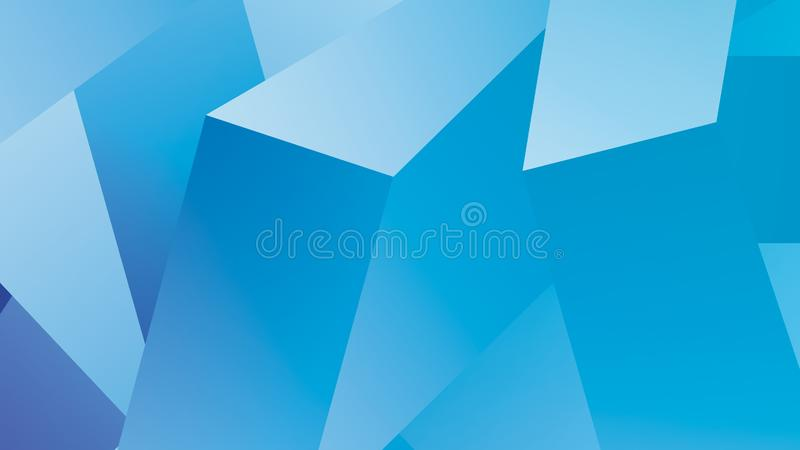3D Cubes Abstract Light Blue Background. 3D cubes Abstract Background with light blue background royalty free illustration
