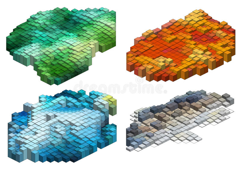 Download 3d Cubes, Vector Background Stock Vector - Illustration: 32049074