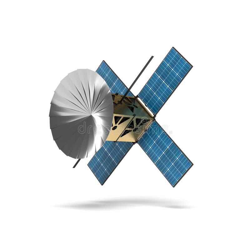 3D CubeSat avec la propulsion d'ion illustration libre de droits