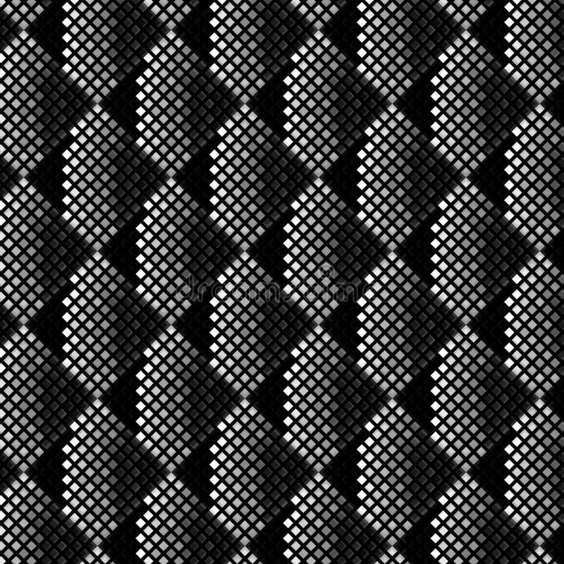 3D czarny i biały lampasy z piksel sztuki kreatywnie teksturą royalty ilustracja