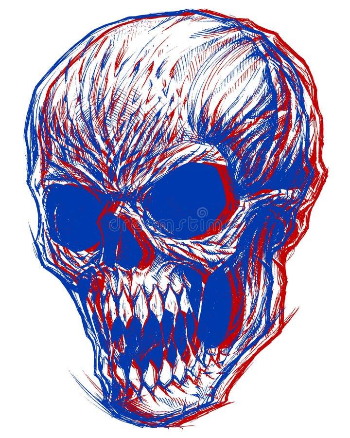 3d czaszka ilustracja wektor