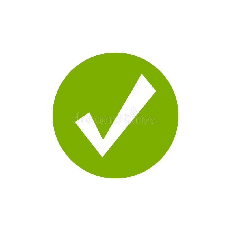 3d czek oceny obrazek odpłacał się Ważna foki ikona Zielony szalony cwelich w zielonym okręgu Płaska OK majcher ikona Odizolowywa ilustracji