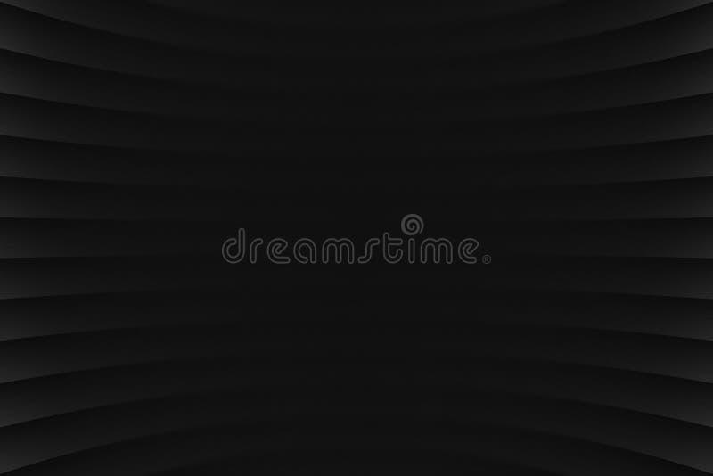 3D czerni Abstrakcjonistyczny Geometrical tło ilustracja wektor