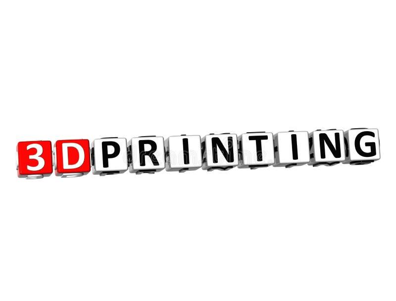 3D 3D słowa druk na białym tle ilustracji