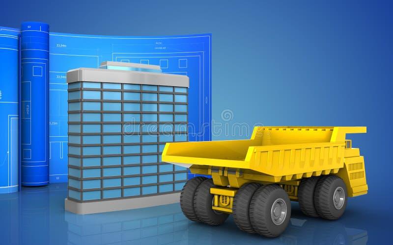 3d da construção genérica ilustração stock