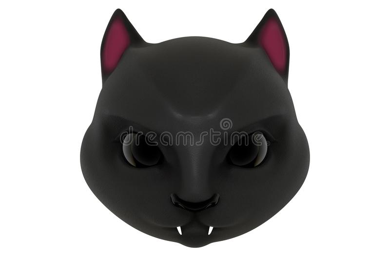 3d, das den Kopf des netten jungen schwarzen Panthers lokalisiert auf wh überträgt vektor abbildung