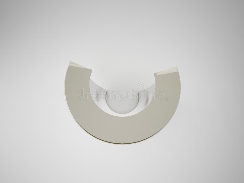 3D, das Geometrie des abstrakten Gegenstandes lokalisiert auf weißem backgrou macht vektor abbildung