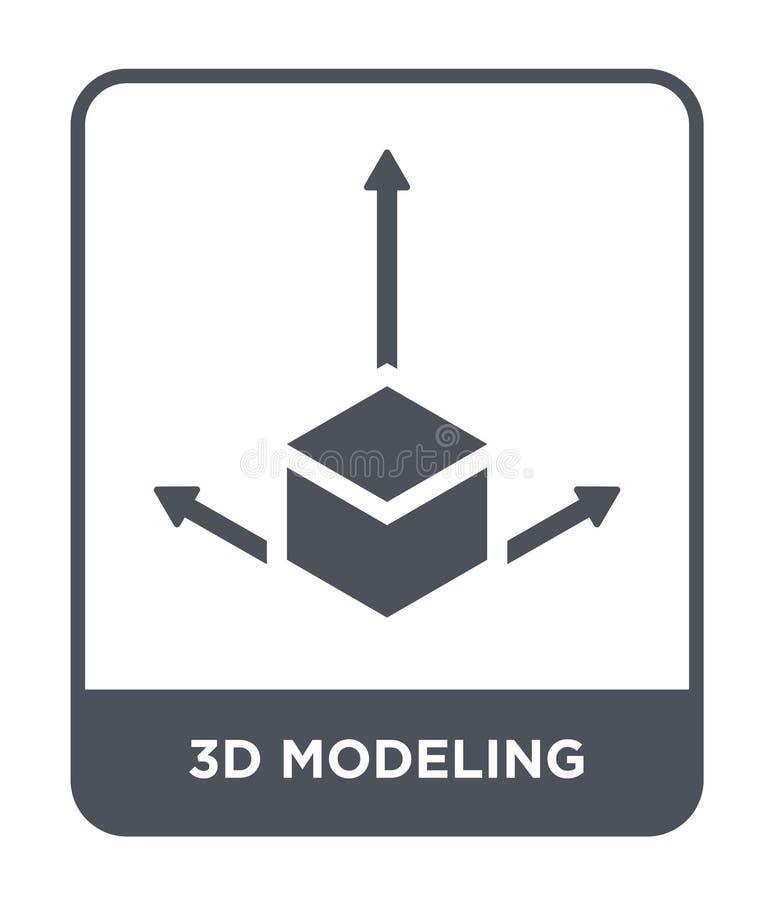 3d, das Ikone in der modischen Entwurfsart modelliert 3d, welches die Ikone lokalisiert auf weißem Hintergrund modelliert 3d, wel lizenzfreie abbildung