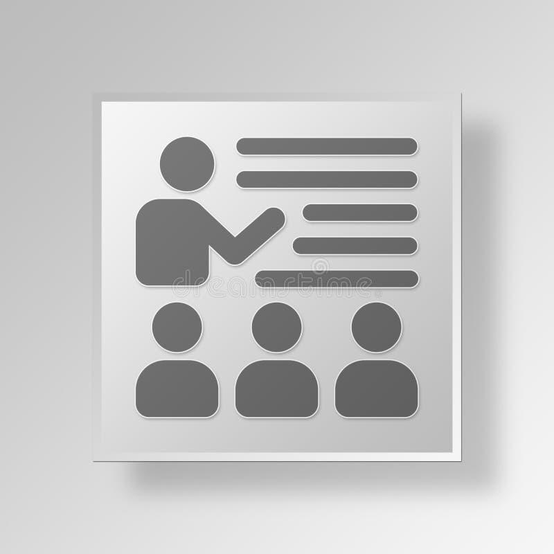 Download 3D, Das Knopf-Ikonen-Konzept Lernt Stock Abbildung - Illustration von kugel, ikone: 90232112