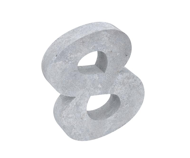3D, das konkrete Nr. 8 acht überträgt 3d übertragen Abbildung vektor abbildung