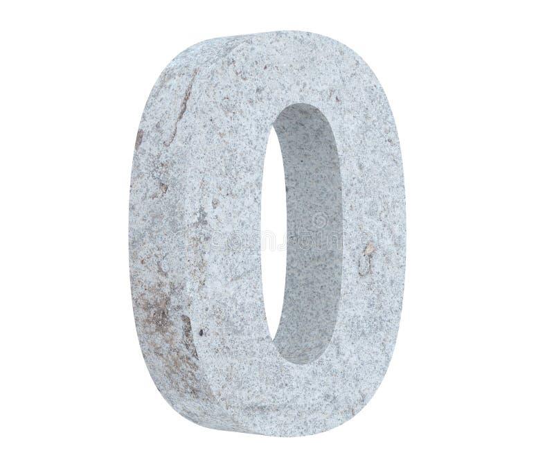 3D, das konkrete Nr. 0 null überträgt 3d übertragen Abbildung lizenzfreie abbildung