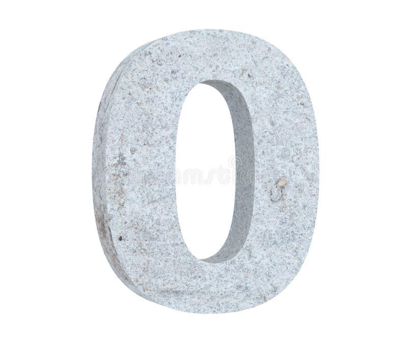 3D, das konkrete Nr. 0 null überträgt 3d übertragen Abbildung stock abbildung