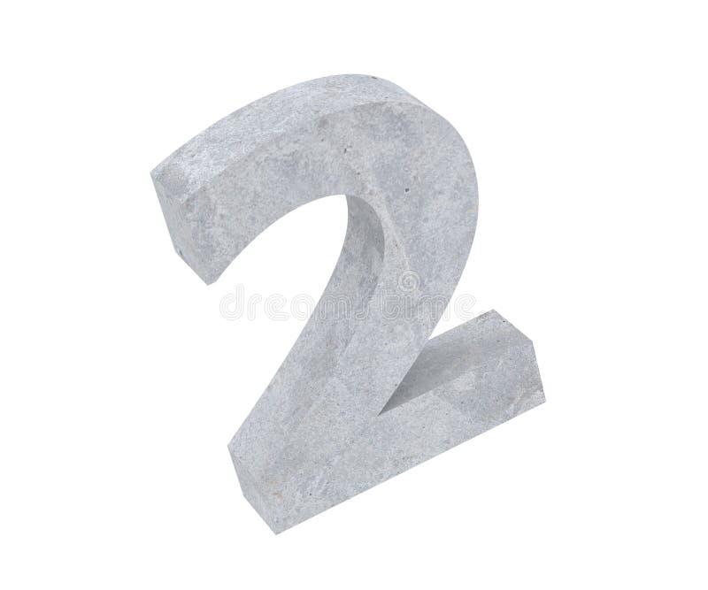 3D, das konkrete Nr. 2 zwei überträgt 3d übertragen Abbildung vektor abbildung