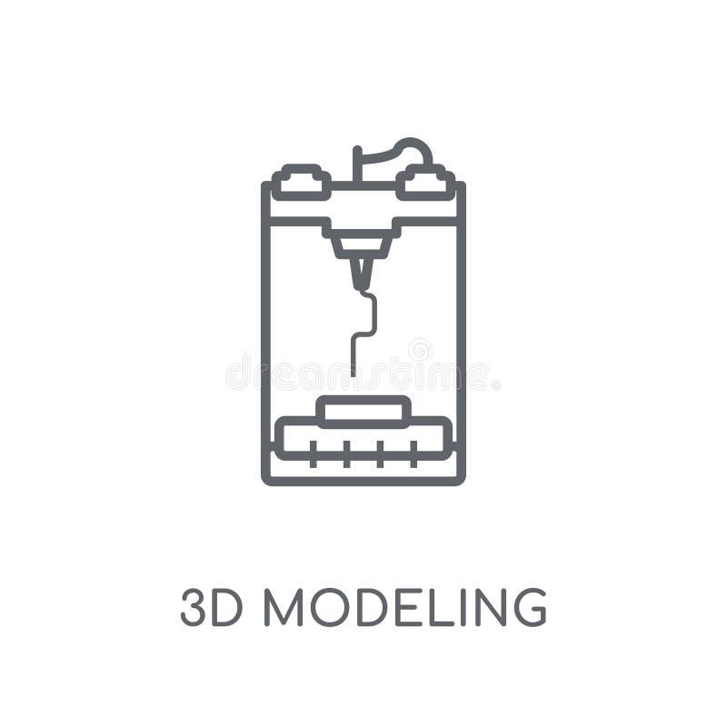 3d, das lineare Ikone modelliert Moderner Entwurf 3d, der Logokonzept modelliert vektor abbildung
