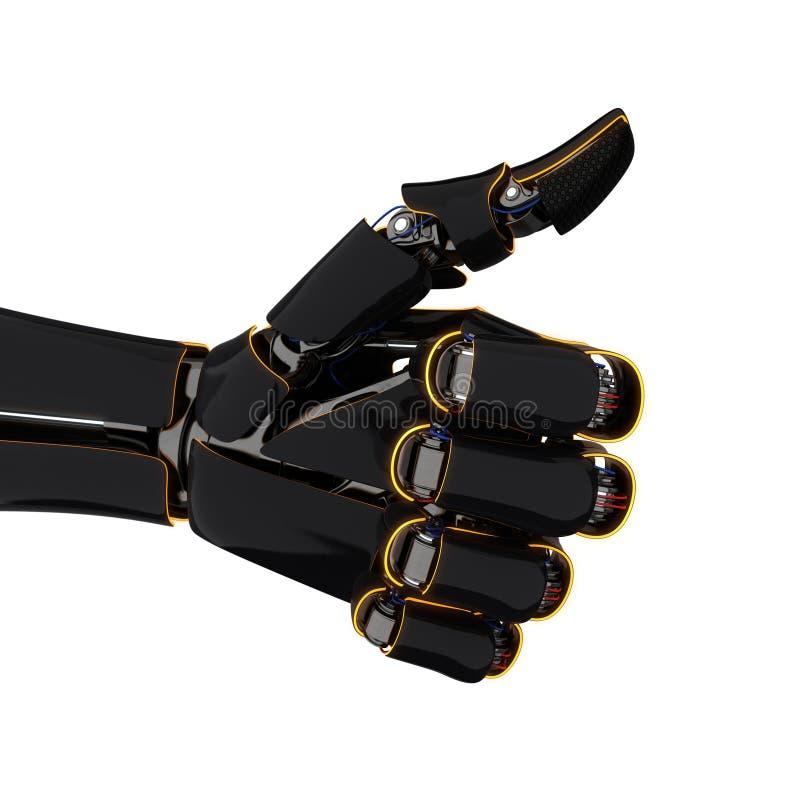 3D, das Roboterhand überträgt vektor abbildung
