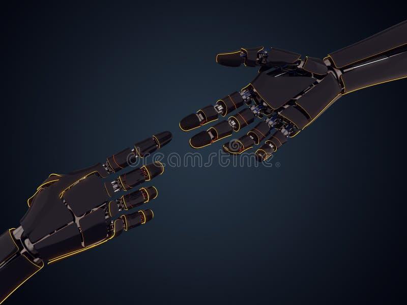 3D, das Roboterhand überträgt lizenzfreie abbildung