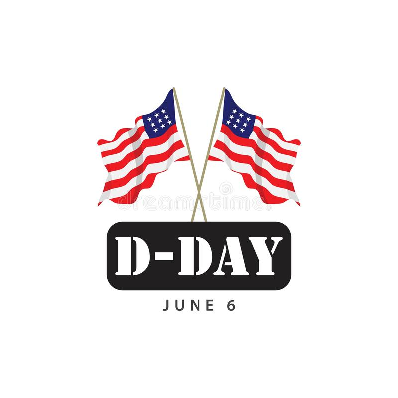 D-Day Vector Template Design Illustration royalty free illustration