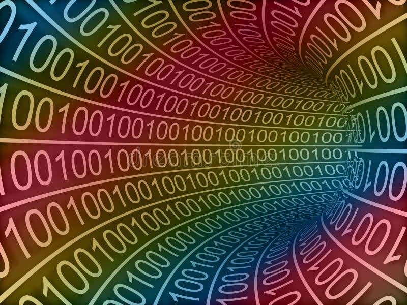 3d de alta resolução rendeu o túnel binário para fundos ilustração stock