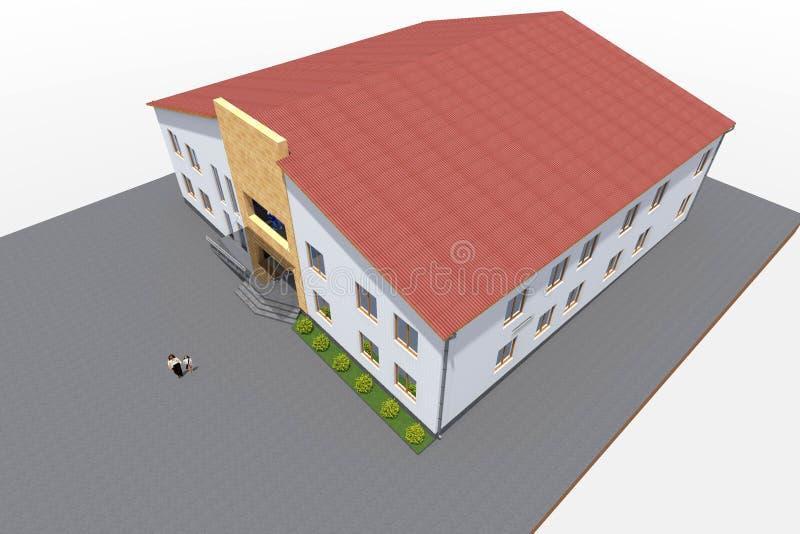 3d de bouwontwerp geeft terug royalty-vrije illustratie