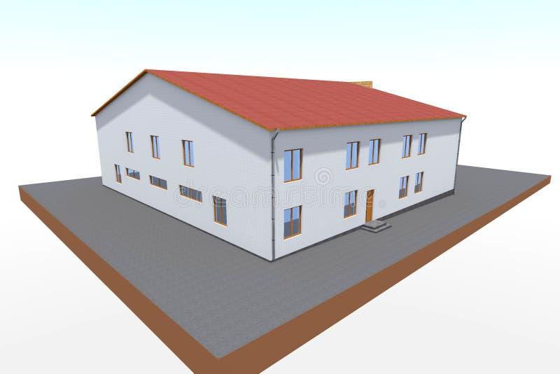 3d de bouwontwerp geeft terug vector illustratie