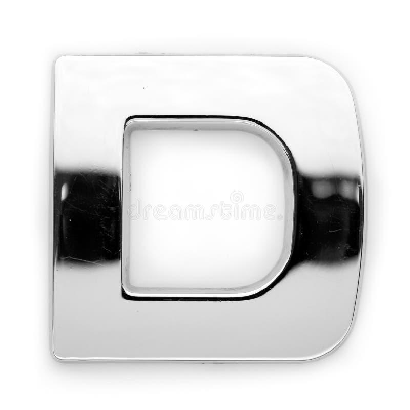 D - de brief van het Metaal stock afbeelding