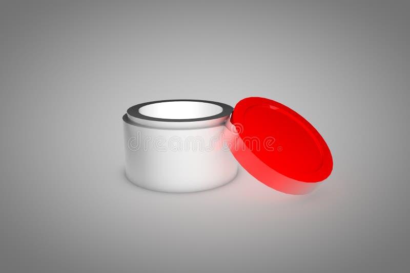 3d de empaquetage cosmétique illustration libre de droits