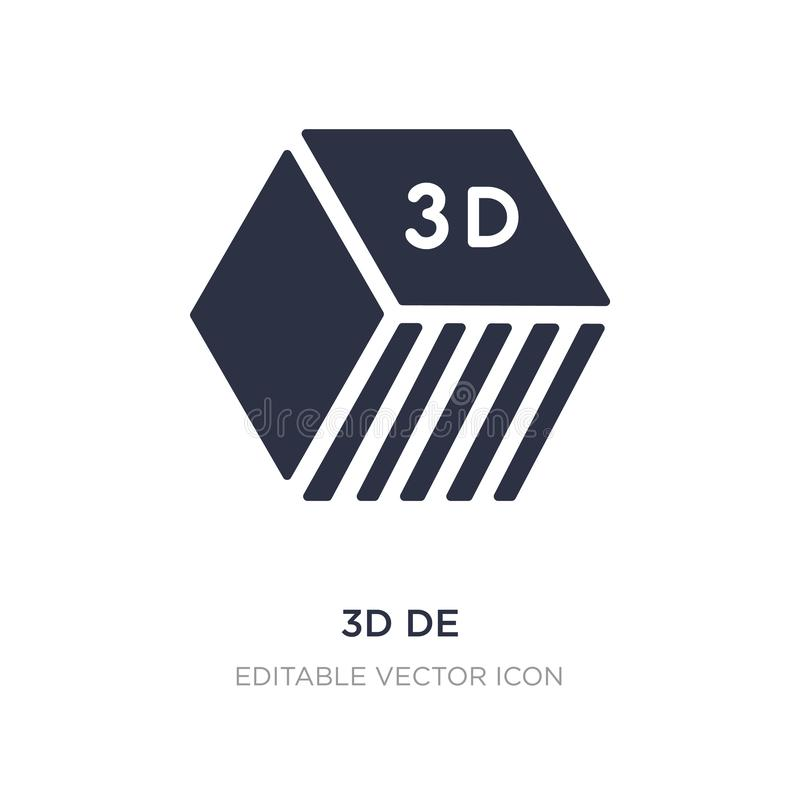 3d de icon on white background. Simple element illustration from Education concept royalty free illustration