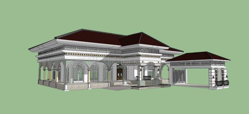 3D de la construcción hermoso ilustración del vector