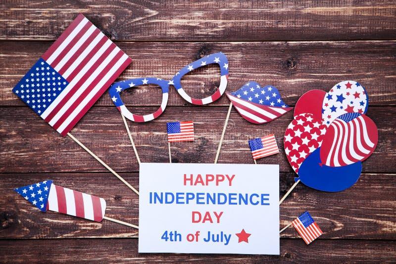 D?a de la Independencia feliz el 4 de julio fotografía de archivo libre de regalías
