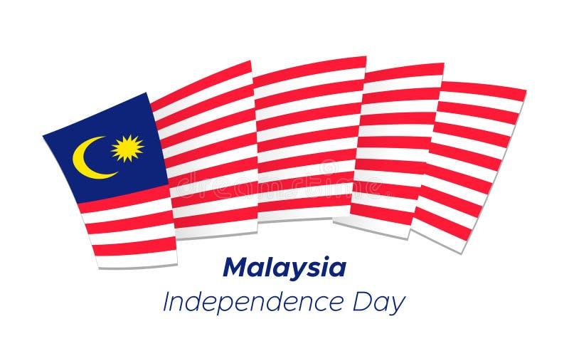 D?a de la Independencia de Malasia stock de ilustración