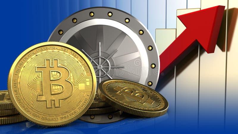 3d de la puerta del valut stock de ilustración