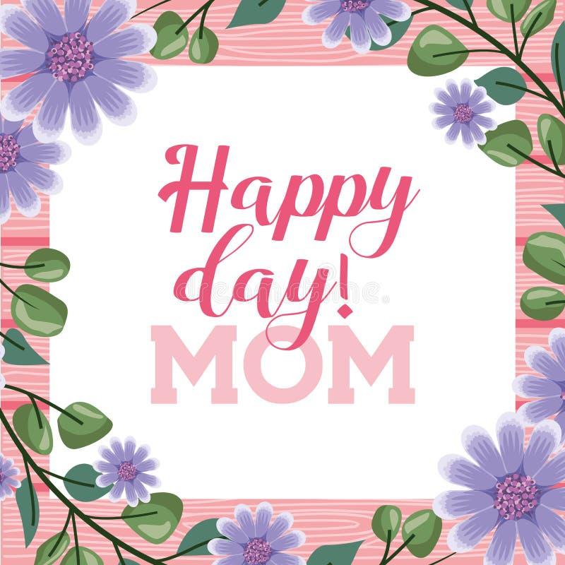 D?a de madres feliz stock de ilustración