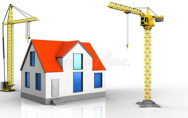 3d de maison générique illustration stock