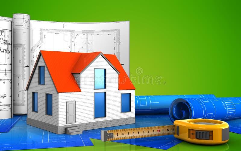 3d de maison générique illustration de vecteur