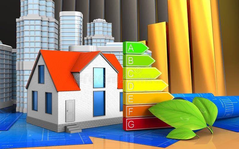 3d de maison générique illustration libre de droits