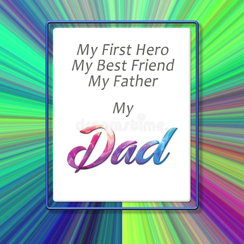 D?a de padres feliz Letra a mi padre ilustración del vector