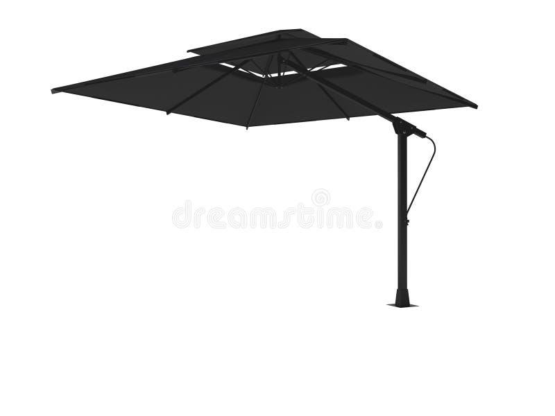3d de paraplu van het de zomerrestaurant geeft op witte achtergrond geen schaduw terug vector illustratie